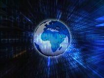 De binaire achtergrond van de aarde Stock Foto's