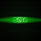 De binaire achtergrond van de technologie 2010. Stock Afbeeldingen