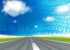 De binaire codeweg van de snelheid Stock Afbeelding