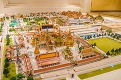 De binnen bouw van Rattanakosin-Tentoonstellingszaal in Bangkok, Thailand stock afbeelding