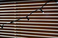 De binnen gesloten schaduwen van vensterzonneblinden Stock Afbeeldingen