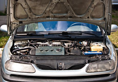 De binnen mechanische motor van het auto automobiele onderhoud royalty-vrije stock foto's