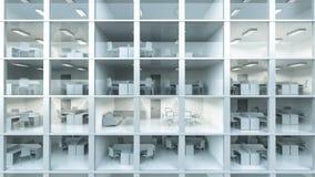 De binnen moderne bureaubouw Royalty-vrije Stock Foto