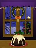 De binnen scène van Kerstmis royalty-vrije illustratie