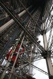 De binnen Toren van Eiffel Stock Afbeelding