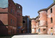 De binnenbinnenplaats van de Fortkeizer Alexander I Kronstadt royalty-vrije stock fotografie