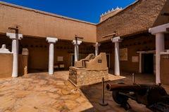 De binnenbinnenplaats van het Masmak-Fort, Riyadh stock fotografie
