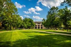 De binnengronden van het park en de tuin in Notre Dame, Illinois stock afbeeldingen