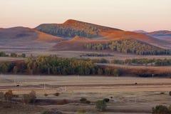 De binnenheuvels van Mongolië stock afbeeldingen