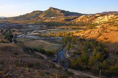 De binnenheuvels van Mongolië stock fotografie