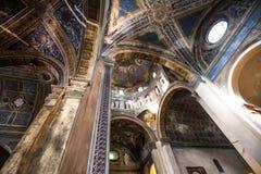 De binnenkant van Basiliek S Sebastian, Biella, Italië Royalty-vrije Stock Afbeeldingen