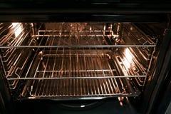De binnenkant van een fornuis nieuwe oven Royalty-vrije Stock Foto