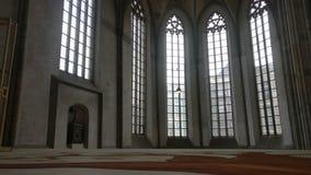 De binnenkant van een kerk in de stad van Zwolle stock foto's