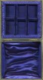 De binnenkant van een lege uitstekende juwelendoos Royalty-vrije Stock Fotografie