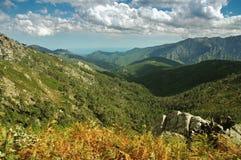 De binnenlandse bergen van Corsica Stock Afbeelding