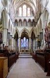 De Binnenlandse Doorgang van de Kathedraal van Salisbury stock foto