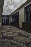 De binnenlandse gang van de hotelbrug Stock Afbeeldingen