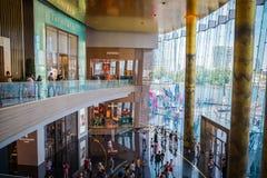 De binnenlandse mening van PICTOGRAM SIAM, is het nieuwe Winkelcentrum en het Oriëntatiepunt van Bangkok, Thailand royalty-vrije stock afbeeldingen