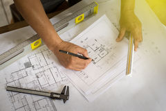 De binnenlandse ontwerperwerken Stock Foto