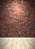 De Binnenlandse Ruimte van de Bakstenen muur royalty-vrije illustratie