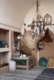 De binnenlandse traditionele decoratie van het huis in yazd Iran royalty-vrije stock foto