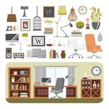 De binnenlandse vector van het detailsontwerp Stock Foto's