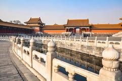 De binnenplaats bij het Keizerpaleis in Peking Stock Afbeeldingen