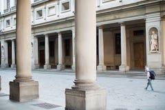 De binnenplaats Florence van de Uffizigalerij Stock Foto