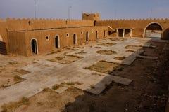 De binnenplaats van Abu Jifan Fort en het Paleis, Riyadh Provincie, Saudi-Arabië stock foto