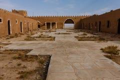 De binnenplaats van Abu Jifan Fort en het Paleis, Riyadh Provincie, Saudi-Arabië stock fotografie