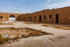 De binnenplaats van Abu Jifan Fort en het Paleis, Riyadh Provincie, Saudi-Arabië stock foto's