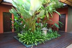 De binnenplaats van Bali Stock Foto