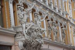 De binnenplaats van de Oekraïne, Odessa, Architectuur in de kleine dingen, liefde voor architectuur Royalty-vrije Stock Afbeelding
