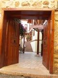 De binnenplaats van de oude stad. Stock Afbeeldingen