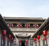 De Binnenplaats van de Qiaofamilie in Pingyao China #3 Royalty-vrije Stock Afbeelding
