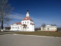 De binnenplaats van de steen van de grote tempel in Kolomna, Ru Stock Foto's