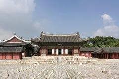 De Binnenplaats van het Changgyeongpaleis - Seoel Stock Foto's
