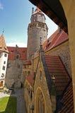De Binnenplaats van het kasteel Stock Fotografie