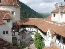 De Binnenplaats van het kasteel stock foto's