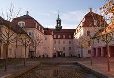 De binnenplaats van het Kasteel Lichtenwalde Stock Foto's