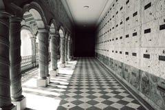 De Binnenplaats van het mausoleum Stock Afbeelding