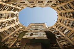 De Binnenplaats van La Pedrera, Barcelona - Architectuur door Antoni Gaudi Stock Fotografie