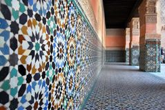 De binnenplaatstegels van het paleis Stock Foto