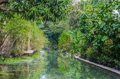 De binnenwateren Thailand van Amphawabangkok Stock Foto