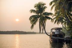 De binnenwateren van Kerala Royalty-vrije Stock Foto