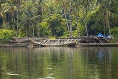 De Binnenwateren van Kerala, India Royalty-vrije Stock Foto's