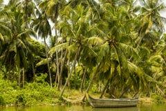 De Binnenwateren van Kerala, India Royalty-vrije Stock Afbeeldingen