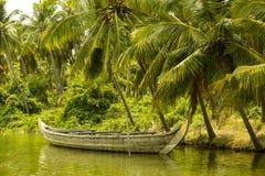 De Binnenwateren van Kerala, India Stock Foto's