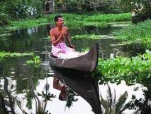De Binnenwateren van Kerala, India Royalty-vrije Stock Afbeelding