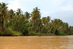 De binnenwateren van Kerala. Kerala, India Royalty-vrije Stock Afbeeldingen